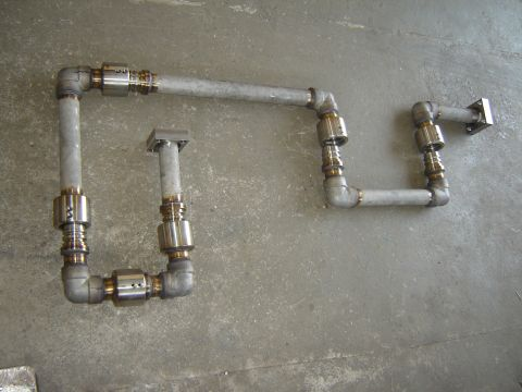 Braço 6 eixos basculamento forno siderurgico