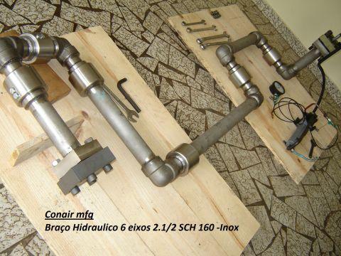 Braço hidraulico Basculamento forno