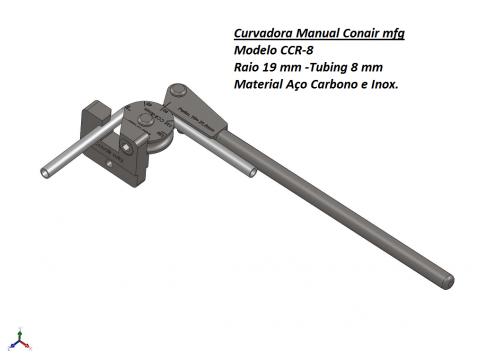 Curvadora manual 8mm