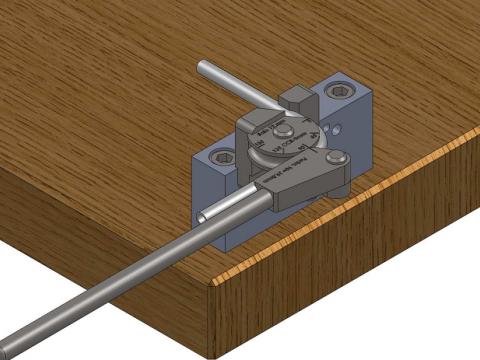 Curvadora manual -suporte de bancada