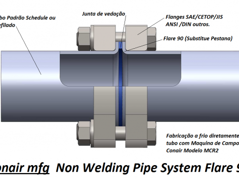 Non Welding Piping System Flare 90