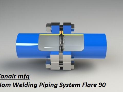 Non Welding Piping Systems Flare 90 corte