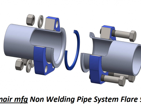 Non Welding Piping Systems Flare 90