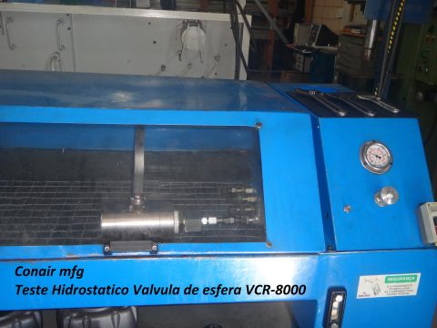 Teste Hidrostático Válvula VCR-8000