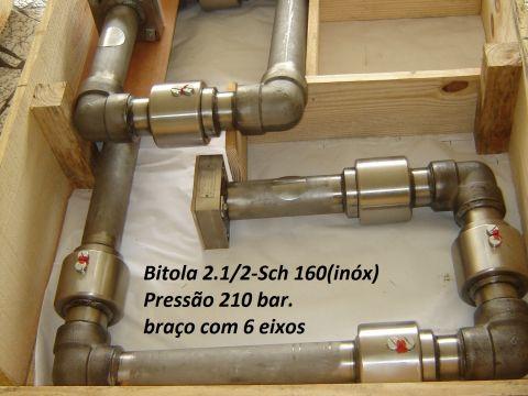 União rotativa Braço hidraulico 6 eixos