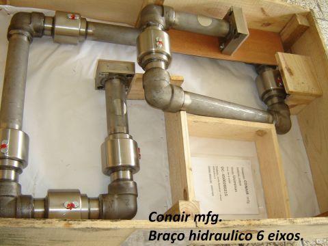 União rotativa braço hidraulico basculamento forno Siderurgico