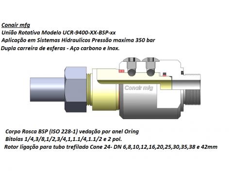 União rotativa para tubos trefilados