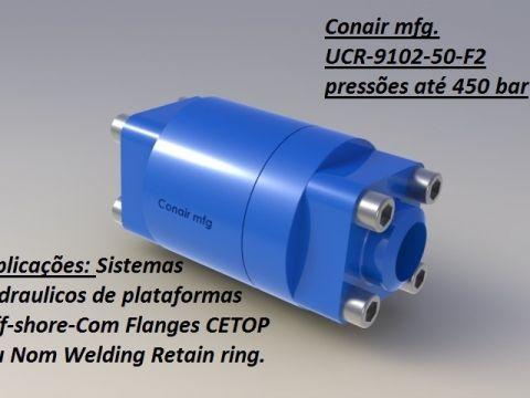 União rotativa Super alta pressão flanges CETOP