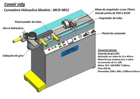 MCR-9852 Curvadora Hidraulica